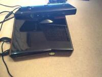 Xbox 360 slim with Kinect Plus 2 controllers with venom charging device with game 254Gb