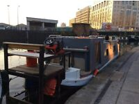 Canal boat, on the regent canal