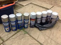 Silver mixed aerosol paints