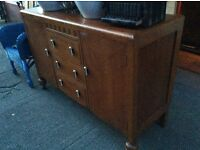 Sturdy wooden sideboard : Free Glasgow delivery