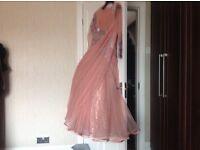 Pink Diamante Wedding / Prom Dress