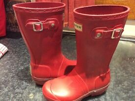 Red Hunter wellies - size 12