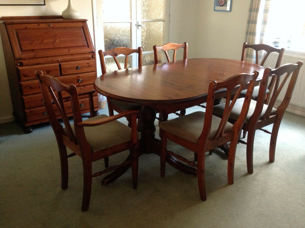 Ducal Hampshire Pine Dining Room Furniture In Brundall