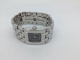 LADIES DESIGNER STEEL & DIAMOND WATCH BY CHAUMET PARIS & LONDON BOND ST THESE COST £4100 WHEN NEW