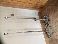 Pair of standard lamp stands