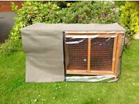 Rabbit hutch as new with rainproof thermal cover