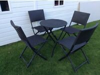 Rattan chairs and table bistro set for the garden or patio £20 Ono