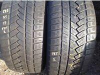 Used tyres - 275/55/17 x 2(pair) continental 4x4 unit 90 fleet road ig117bg barking