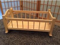 Wooden Cot for Toy (£5)