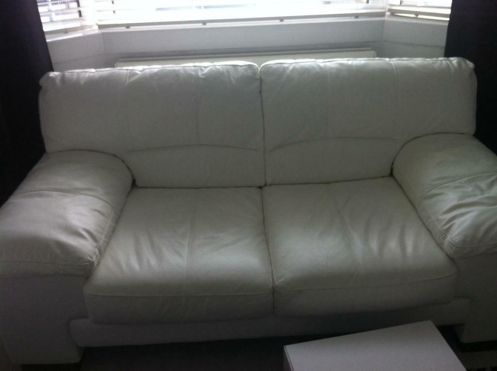 White Leather Sofas In Aberdeen Gumtree