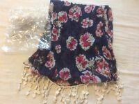 Ladies Avon Connie Floral Neck Scarf New