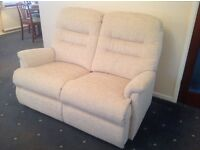 Two seater sofa and armchair, nearly new