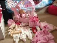 Baby Annabell with rocking crib and accessories