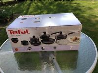 Tefal 7 piece pan set new still in plastic