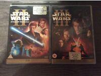 X2 Star Wars Dvds