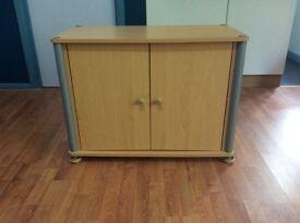 Beech effect wooden storage cupboard