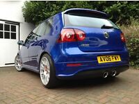 R32 hpi clear 2006 VW Golf Blue Mk5 Manual, BBS CH, AMD Remap 280bhp Milltek 1 Owner gti