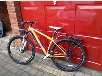Mountain Bike. VooDoo Aizan 29er. Size M - L. Orange Frame. Top Condition.