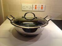 Cook's Essential 26cm Stainless Steel Casserole Dish with Trivet