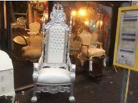 Fabulous 6ft high throne chair