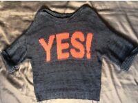 VGC Yes! Logo Grey Wool Jumper (Indy2 Referendum?)