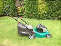 Qualcast mower, petrol self propelled. Not used the mower much as I have a gardener.