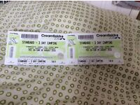 2 X 3day camping tickets for CREAMFIELDS