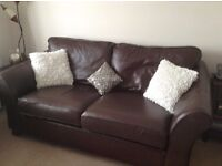Fine Leather Sofa and Armchairs from the M&S Abbey Range