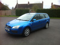 Blue Diesel Ford Focus TDCI 90 HP, Estate Manual - 7 Months MOT. Only 100 miles on since the MOT