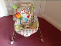 Fisher price baby chair as new vibrates & music cost £47!.99 sell £25 can deliver if you live local