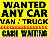 SCRAP CARS WANTED SAME DAY CASH TEL 07814971951 CASH WAITING