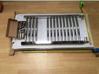 Chrome curved towel radiator 400mm x750mm