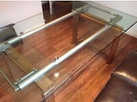 Beautiful extendable glass dining table with or without chairs