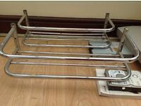 CHROME BATHROOM TOWEL RACKS x 2