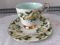 Paragon Bone China Trio. Harry Wheatcroft Six World Famous Flowers. Pascali.