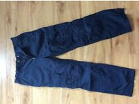 Boys Marks and Spencer Navy Trousers