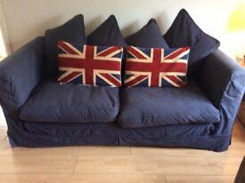 Habitat sofa dark blue vgc FREE