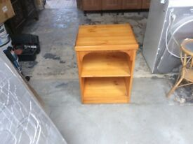 Pine unit, bedside table,