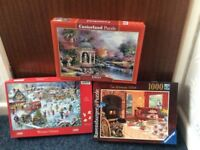 For Sale 3 Jigsaw Puzzles excellent condition - 1 owner - all pieces in boxes - recently completed
