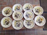 POOLE POTTERY DINNER PLATES.