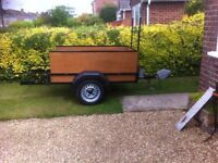 Trailer 6ftx3ft Tailgate extends 2ft more App. 3 years old