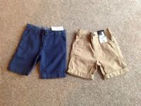 2 x Boys Shorts Brand New with labels 2-3 Years