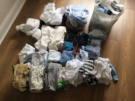 Baby boy clothes bundle first size, newborn and 0-3 months