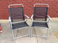 TWO GARDEN FOLDING CHAIRS