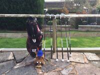 Junior starter Masters golf set - aged 10-12. Includes Golf bag, various clubs and accessories