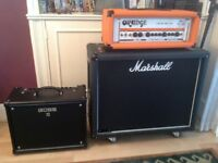 Orange crush 120 pro head, Marshall 2x12 1936 cab.