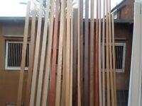 Various oak nosing trims 14 foot lengths