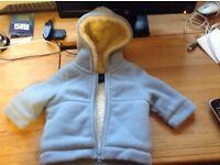 Boden Blue Baby Fleecy Coat (6-12)