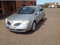 NISSAN PRIMERA 1.8 SVE 5 DOOR (05) FULL SERVICE HISTORY, BLACK LEATHER TRIM,HPICLEAR.