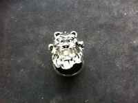 lion silver plated metal ring